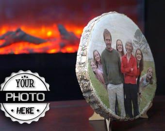 Wood photo Family photo Wood Custom photo  Anniversary Gift Personalized photo Reclaimed wood  Wood photo frame  Photo transfer
