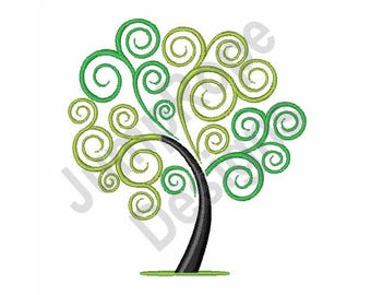 Swirly Tree - Machine Embroidery Design