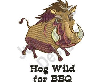 Hog Wild - Machine Embroidery Design