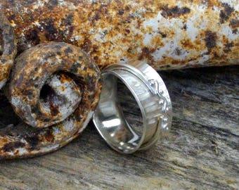 Handmade Argentium Silver Spinner Ring