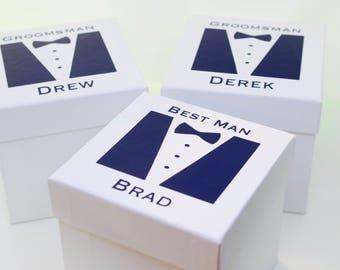 Custom Groomsmen Gift Box | Groomsmen Gift Proposal | Will You be My Groomsmen | Groomsmen Box | Ring Bearer Box | Monogrammed Groomsmen Box