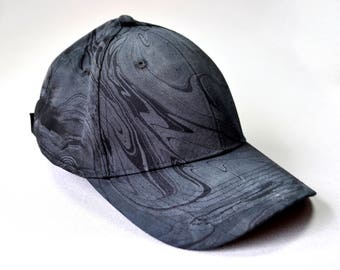 Black and Gray Marbled Hat