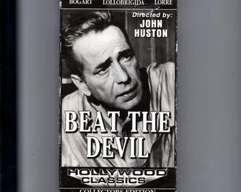 Beat the Devil VHS, Film Noir, Bogart spoof