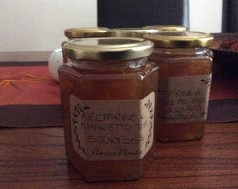 Nectarine and amaretto jam