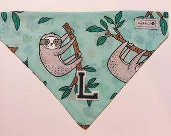 Sloth | Reversible Dog Bandana