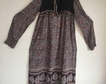 SOLD Vintage 70s Indian Gauze Dress