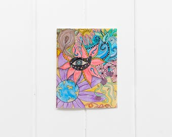 Every Day Card Set/Boho Cards/Thinking of You/Just because/Floral Friendship Cards/Botanic Notecards/Blank Art Cards/ Flower Postcard/CC-27
