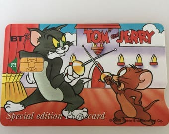 Special Edition Vintage Phone Card Tom And Jerry Stratford