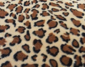 Leopard Print Fleece - 61 Inches Wide!