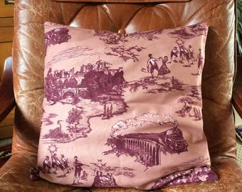 Hand Made Northumberland Cushion Suede 17x17