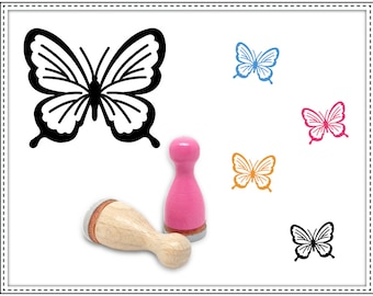 Rubber stamp BUTTERFLY NO. 01 Ø 12 mm