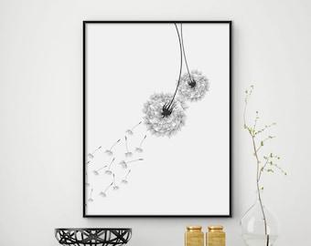 Dandelion Wall Art | Etsy