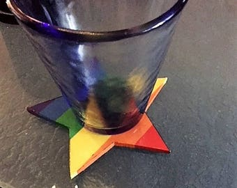 Star Coasters, Gay Pride Star Coasters, Gay Pride Coasters, Rainbow Coasters, Gay Gifts, Gay Pride, Gay Serving Coasters, Gay Party Supplies