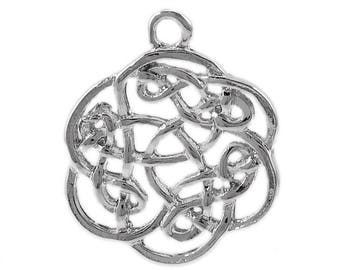 Set of 3 Silver interlaced endless knot (B34) charm