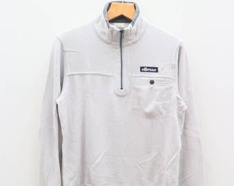 Vintage ELLESSE Designer Gray Sweatshirt Sweater Size M