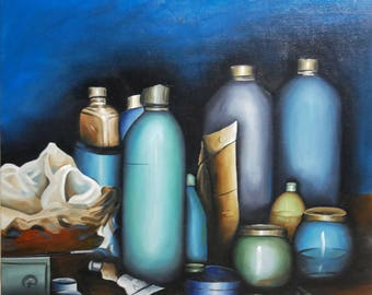 STILL life - Oil painting on canvas