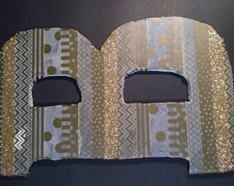 Gold washi tape letter