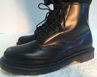 90s Unworn Black Dr Martens 101 5-Eye Boots Size US Mens 12 UK 11 NWB