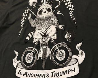 Motorcycle Raccoon Deity T-shirt