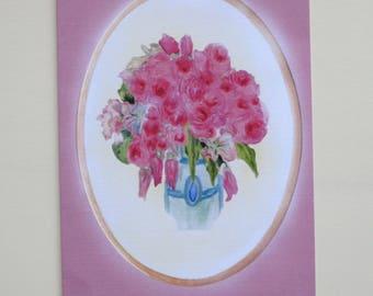 Summer roses, Folding card DINA5