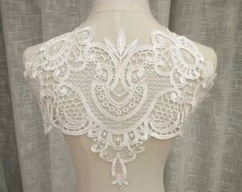 DIY french lace panel for dresses and weddings, party top