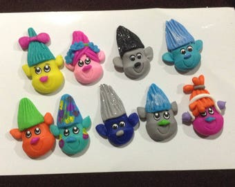 Trolls Clay Bow Centers (set of 9)