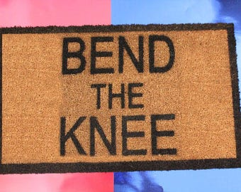 Bend The Knee House Stark Painted Custom Door Mats! Game of Thrones! Great for Wedding/anniversary gifts, Birthdays, housewarming present