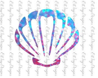 Mermaid shell svg, shell svg, sea shell svg, glitter svg,  silhouette cut file, cricut cut file, sea shell, sea shell cut file, summer svg