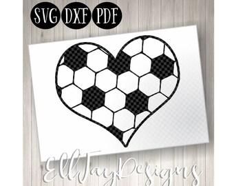Soccer Ball SVG, Soccer ball heart, Soccer, Soccer Monogram svg, soccer ball, soccer circle mongram, silhouette, soccer heart silhoutte cut