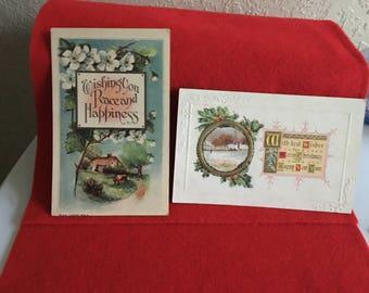 4 vintage Christmas Postcards