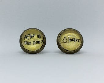 Harry Potter After All This Time? Always Cabochon Earrings