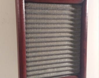 Vintage Cherry Brown Washboard