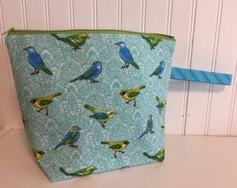 Medium Blue Bird Bag