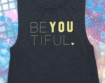 yoga shirt, yoga tank top, yoga gym tank, cute yoga tank top, yoga muscle tank top, be you, yoga workout tank