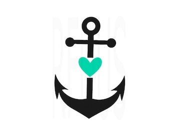 anchor with heart svg, ocean svg, anchor svg, beach svg, summer svg, sea svg, cricut cutting file, love anchors the soul svg, soulmates svg