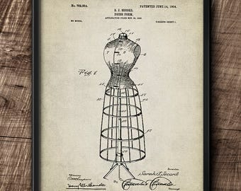 Dress form patent · Instant Download · Vintage · Wall · Printable · Digital File #67