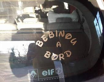 Stickers stickers decals bebinou on board