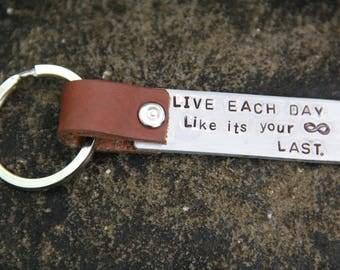 Leather Personalized Keyring
