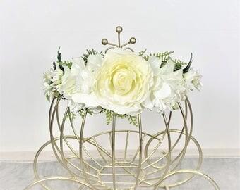 White Ivory crown. Bridal Crown Wedding, Flower Girl Crown, Flower Headband, Photo Shoot Crown, Maternity, Headpiece, Spring crown.