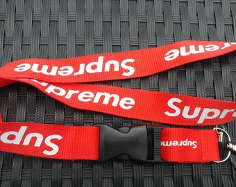 SUPREME Lanyard Red With White Print High Quality