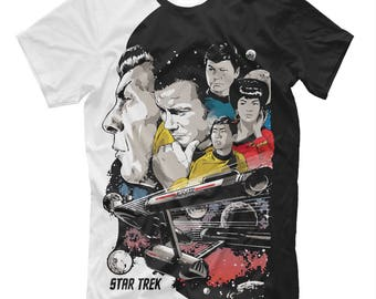 Star Trek shirts, Star Trek tee-shirt, t shirts Star Trek shirt,  clothes starship enterprise, movie Star Trek, space, fantastic, Spock