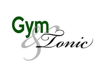 T-SHIRT: Gym And Tonic - Classic T-Shirt & Ladies Fitted Tee - (LazyCarrot)