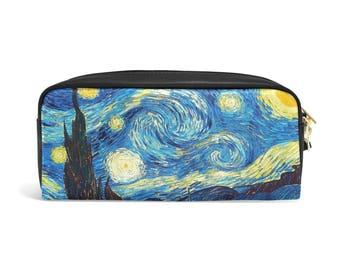 Starry Night Pencil Pouch, Starry Night Zipper Pouch, Starry Night Pencil Case, Back to School, Starry Night Print Bag, Boy Girl Gift