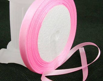 Pink satin ribbon sold by the yard