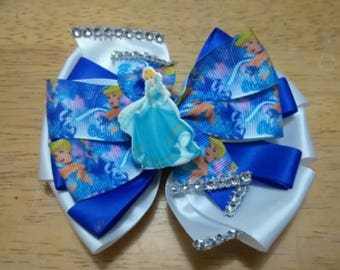 Cinderella bow , character bow ,Birthday bow