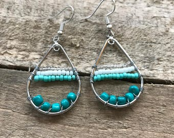 The  Beaded Teardrop Earrings