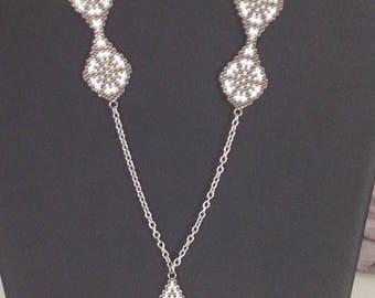 Necklace in Peyote beads Miyuki DELICA 11