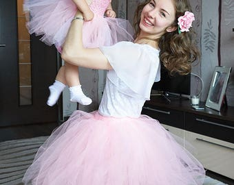 Mother Daughter matching dress Mommy and Me dresses Mom Baby Skirt Mommy and Me Matching Tutu Set Mother Daughter Outfits  mommy and me tutu