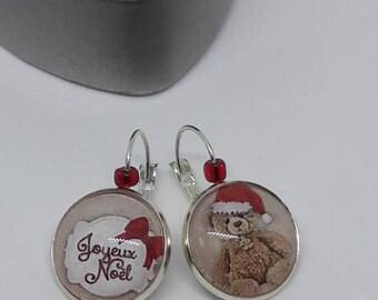 Christmas cabochon earrings