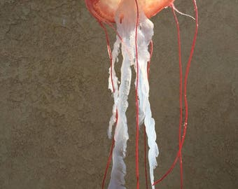 Custom silicone jellyfish art sculpture model prop; 3D real life